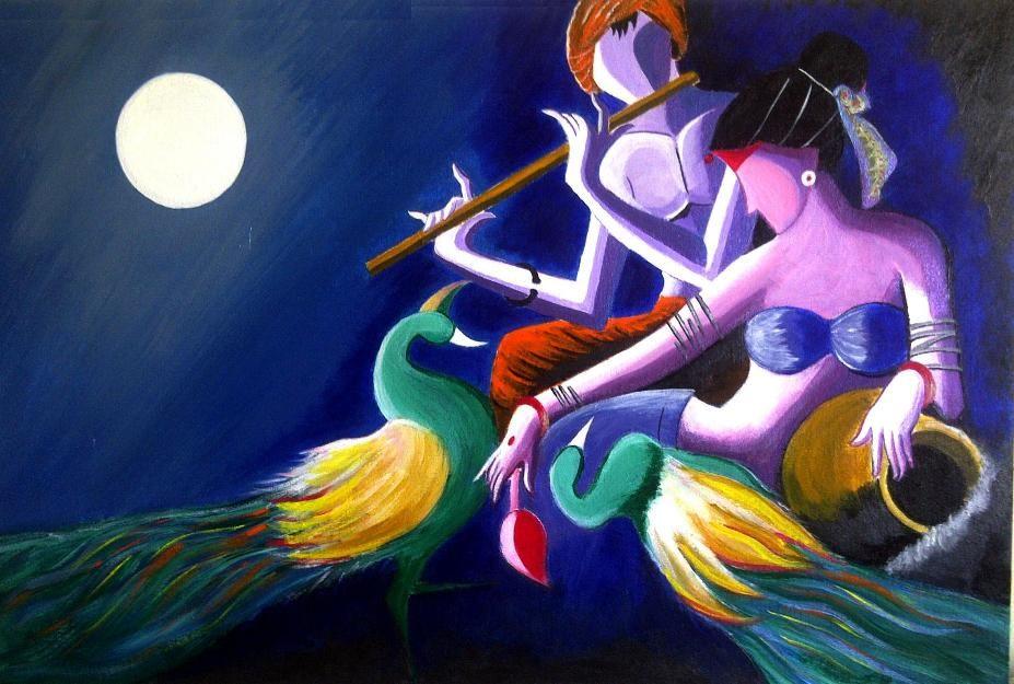 radha krishna paintings